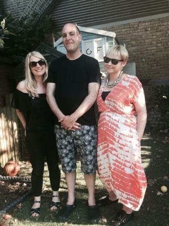 Anna Lyons, Jon Underwood & Louise Winter at Jon's home in Hackney in October 2016