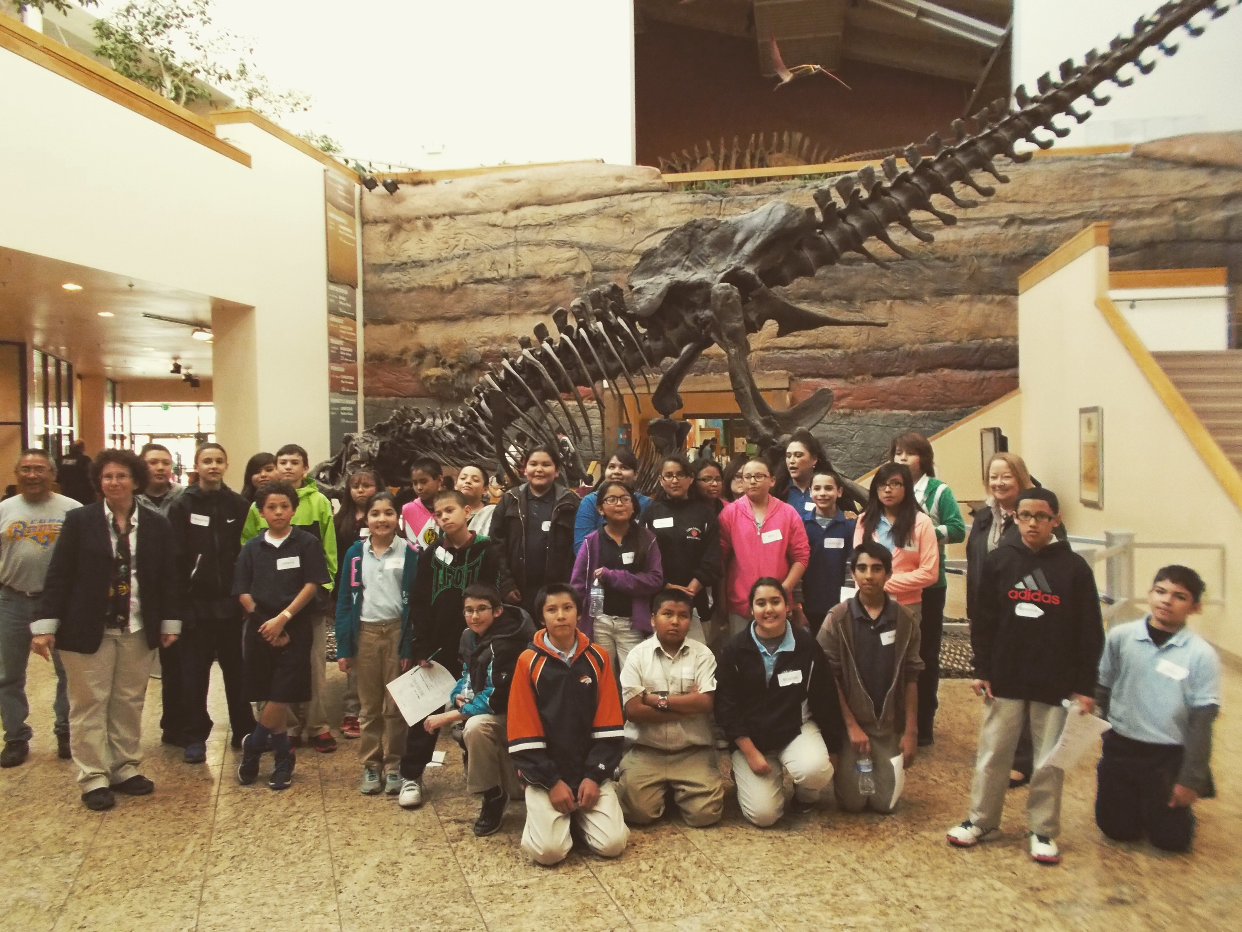 Cuba 6th grade students at the NM Museum of Natural History and Science