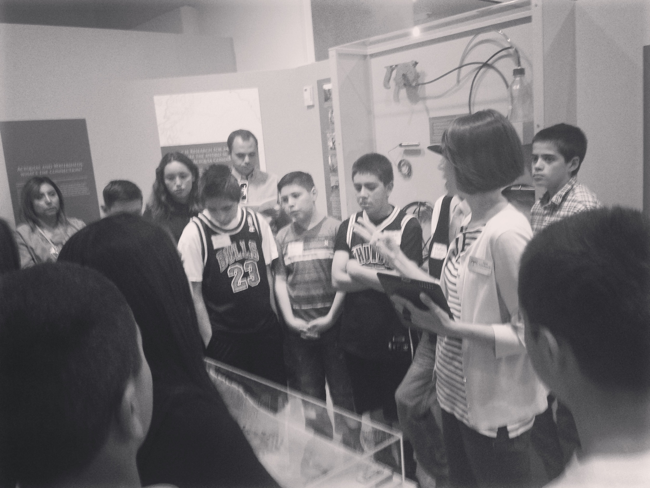 Coronado students at the Maxwell Museum of Anthropology