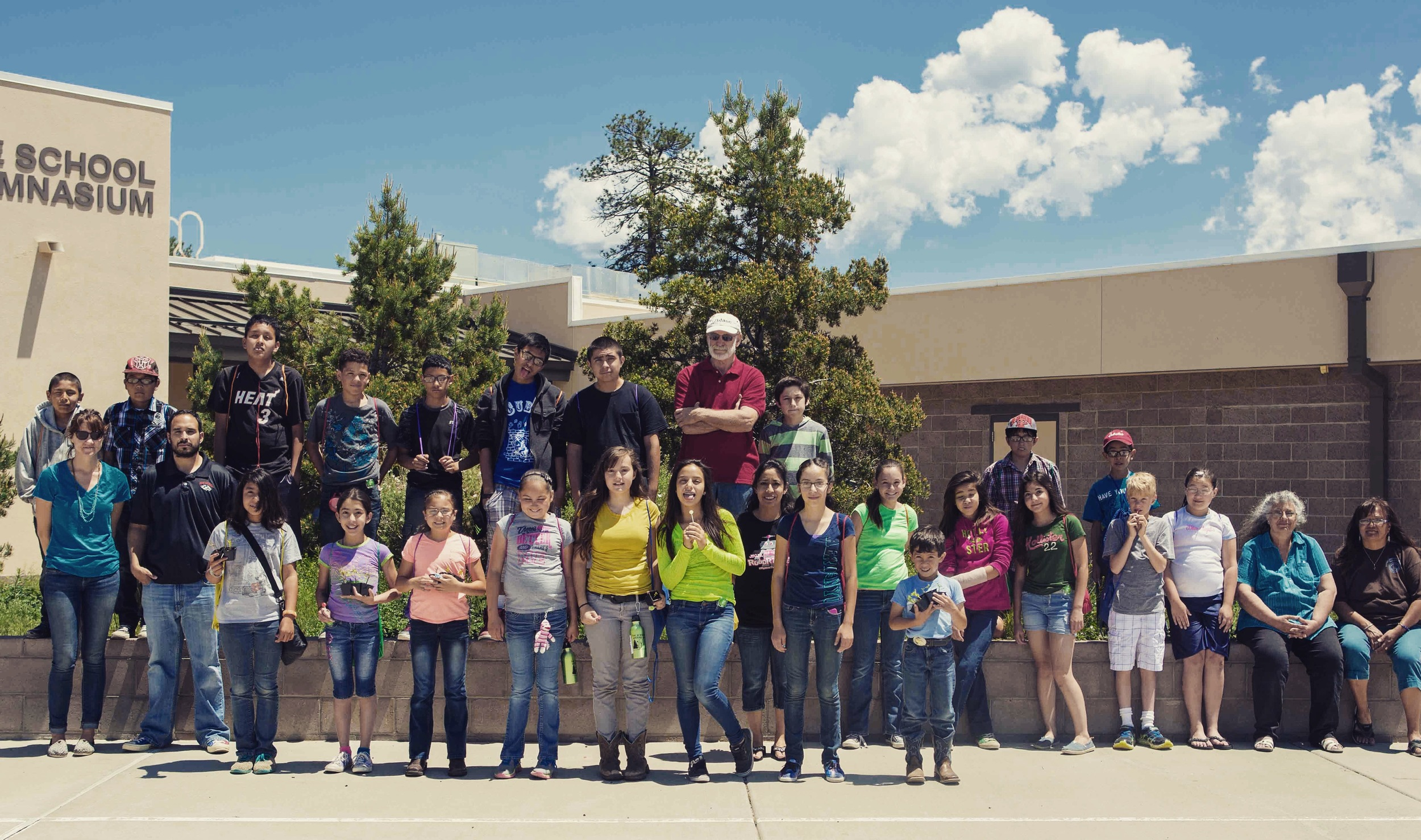 The whole group on the last day of Science Summer Day Camp