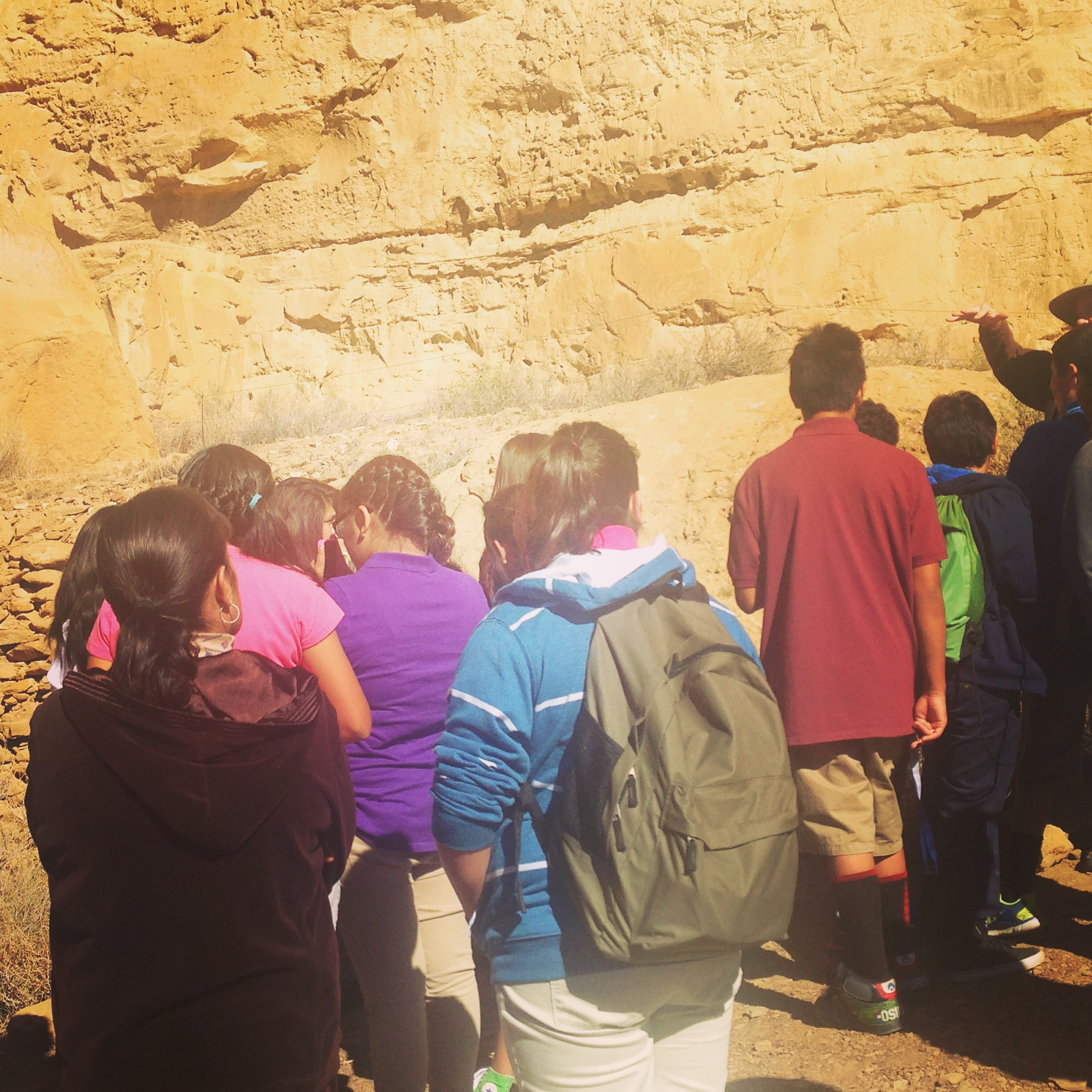 Students learn at Chaco Culture National Historical Park