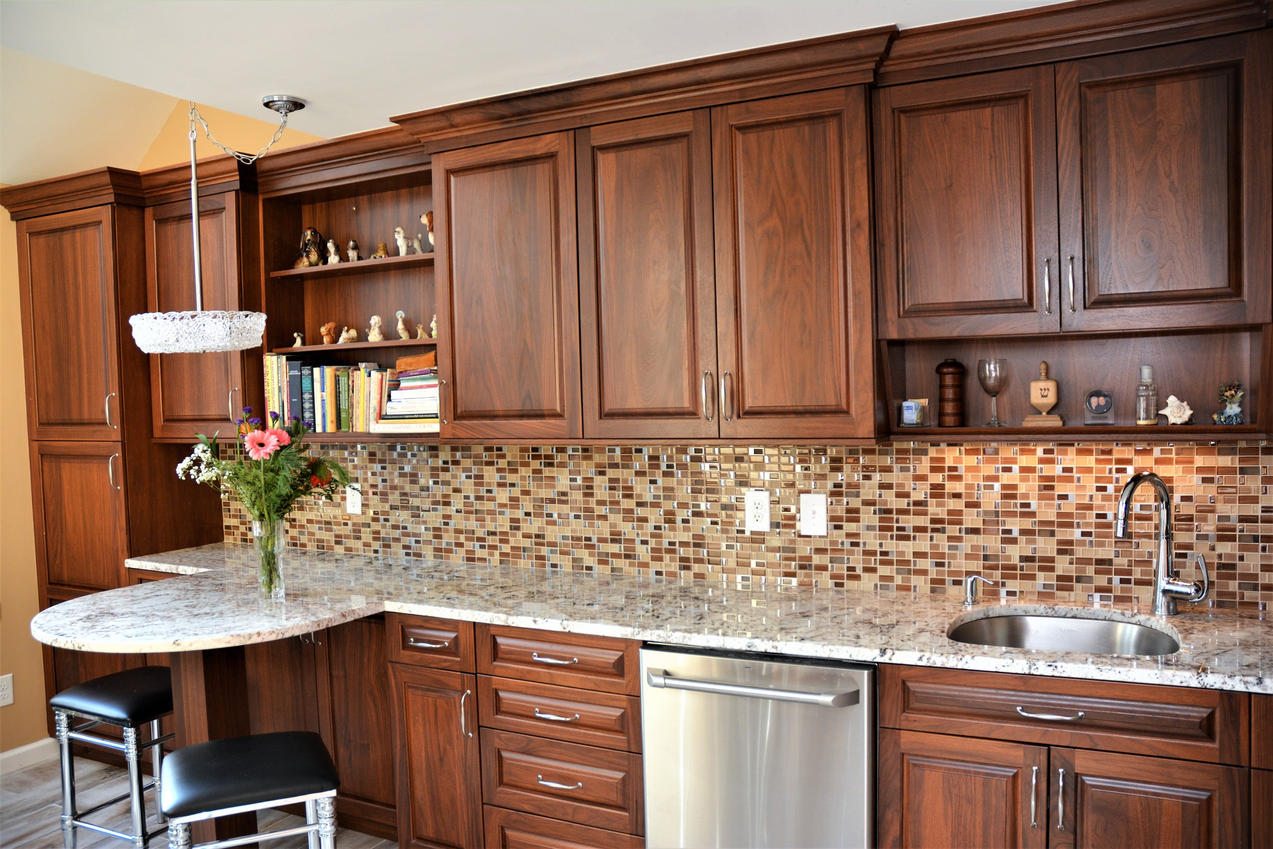 Galley Gorgeous - Arthur has done 3 kitchen remodelings for my family over 20 years. When I purchased my condo I didn't even think about comparison shopping and contacted Arthur. I left the design & layout to him & again have an eye-catching kitchen. Arthur lets you take the lead in picking tile, back splash etc to go with the cabinets and gives you his view on your picks. My only regret is that he is moving his business out of my area so he might not be able to do my next kitchen.-Lisa S.