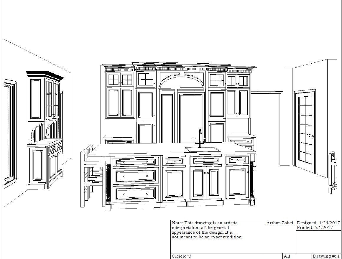 Island and refrigerator wall plan view.JPG