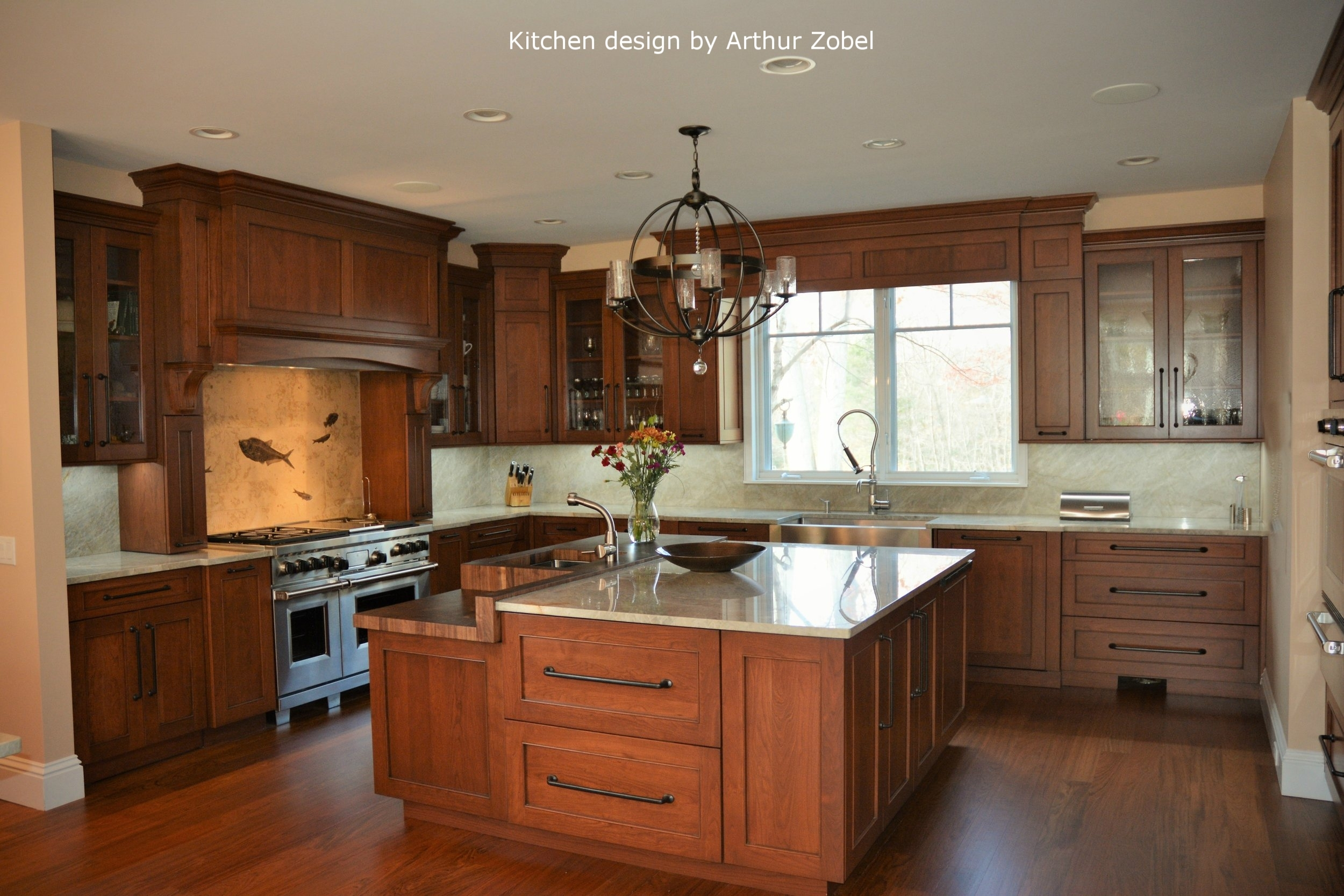 Transitional cherry kitchen