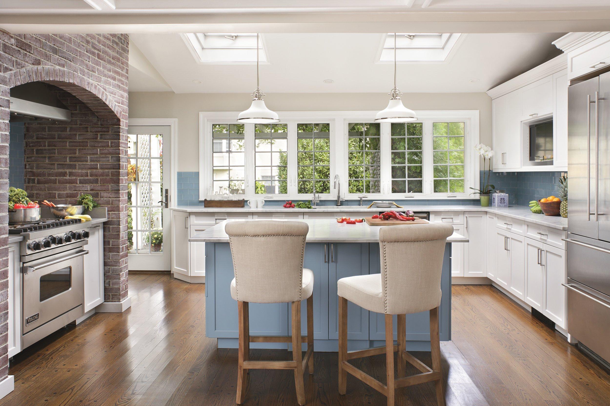 Two-Tone Tudor Transitional Kitchen