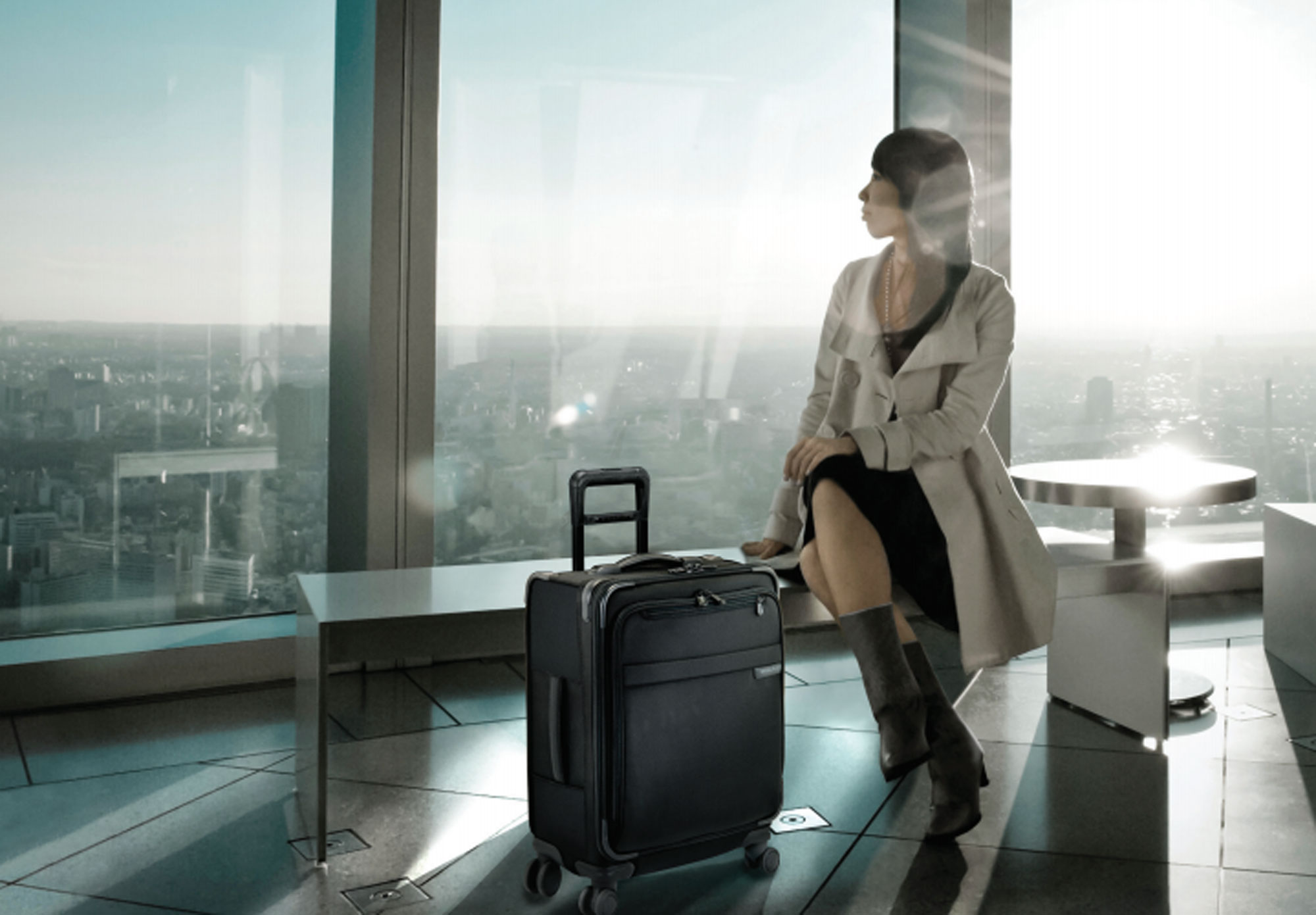 Briggs & Riley 4 Wheel Spinner Luggage means you can wheel effortlessly through the airport.