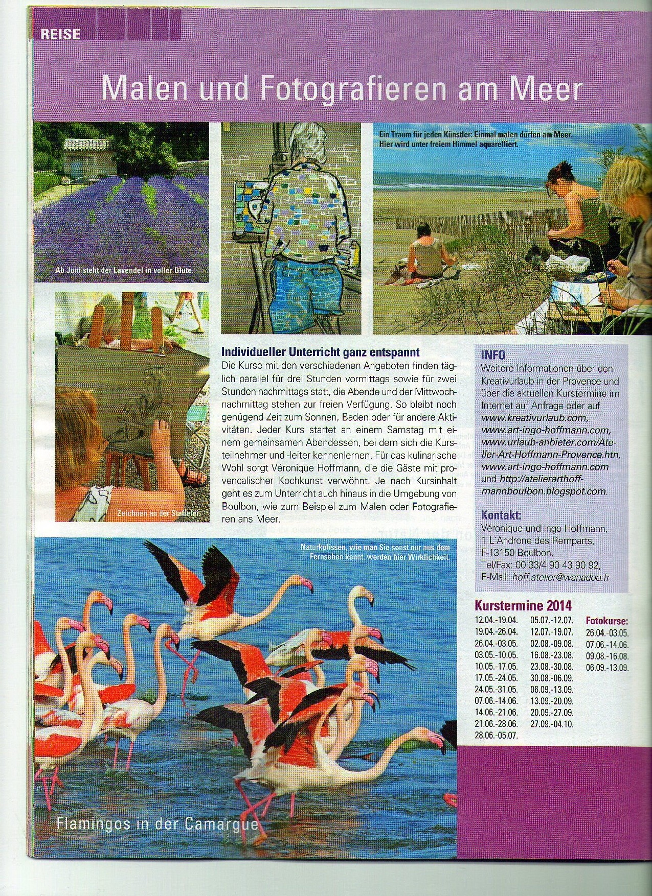 Kreativurlaub, Provence, Malkurse, Zeichekurse, Skulpturkurse in frankreich,