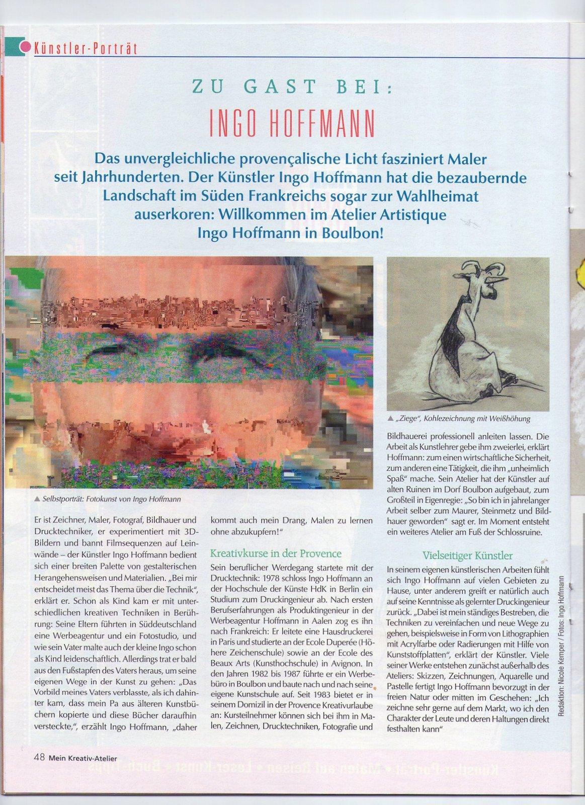 Kreativ Atleier, Kreativurlaub, Provence, zu Gast bei Ingo Hoffmann,