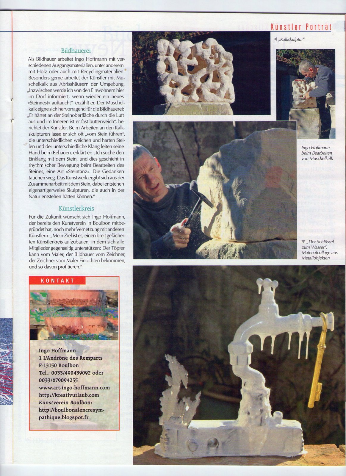 Mein Kreativ Atelier, Ingo Hoffmann, Kreativurlaub in der Provence,