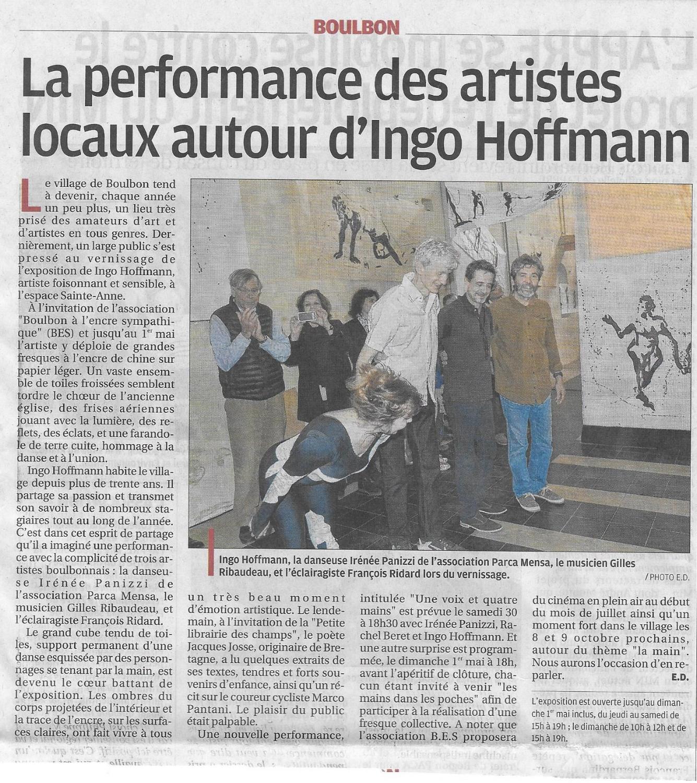 2016 la provence.jpg, Performance, Künstler Ingo Hoffmann, Provence, Boulbon,