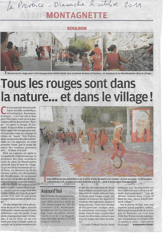 Strassenmalerei, Ingo Hoffmann, Provence , Frankreich, Boulbon, BES,