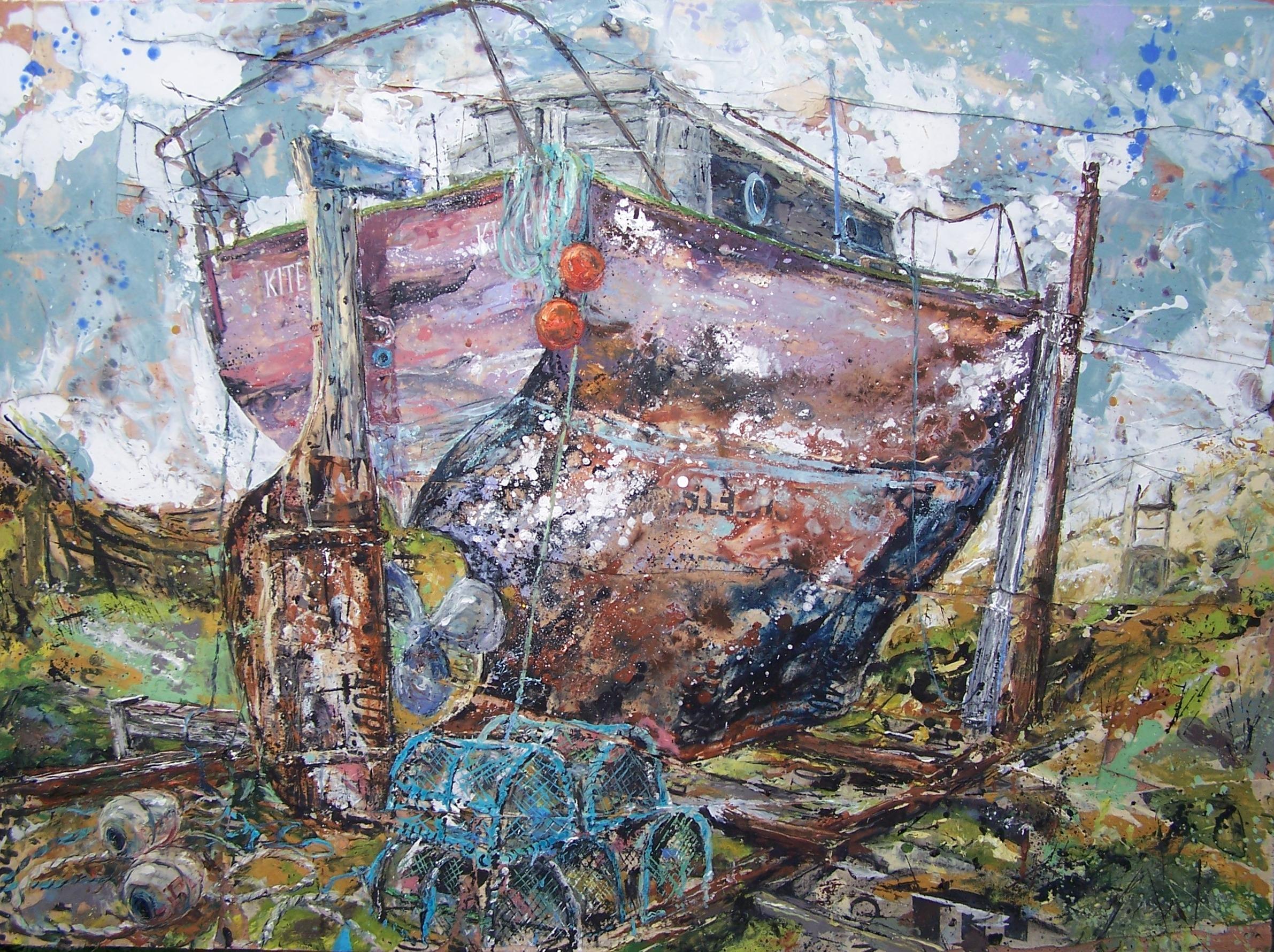Kite Kintra, Isle of Mull, Scotland, Oil on wood £1,150(SOLD)