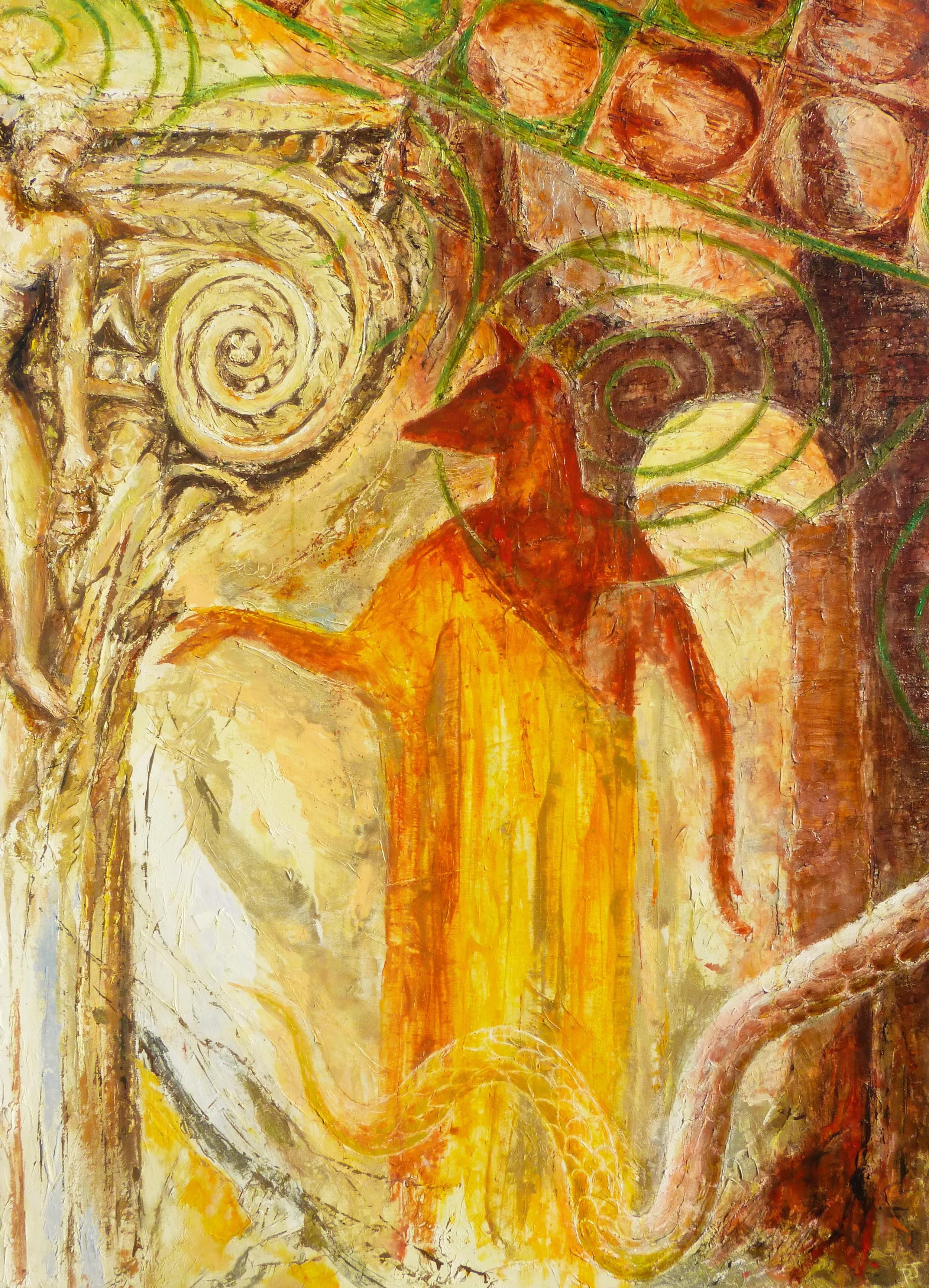Baths of Caracalla, Rome, Anubis and Hercules. Oil on canvas