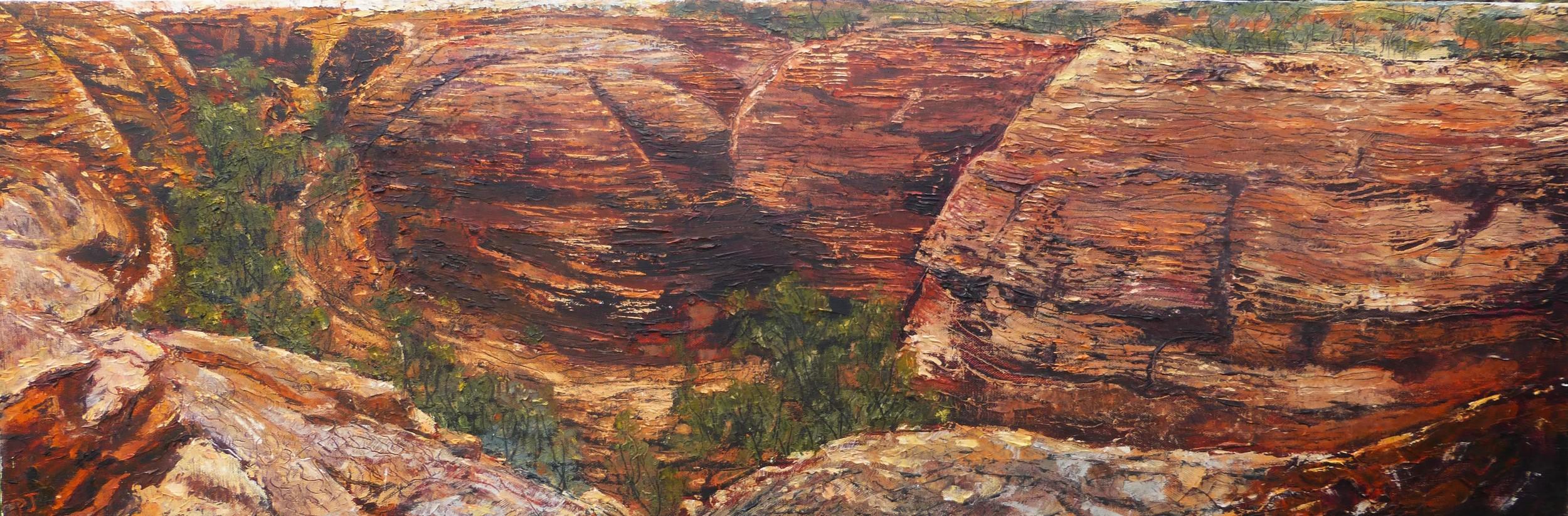 The Lost City, Australia, oil on canvas