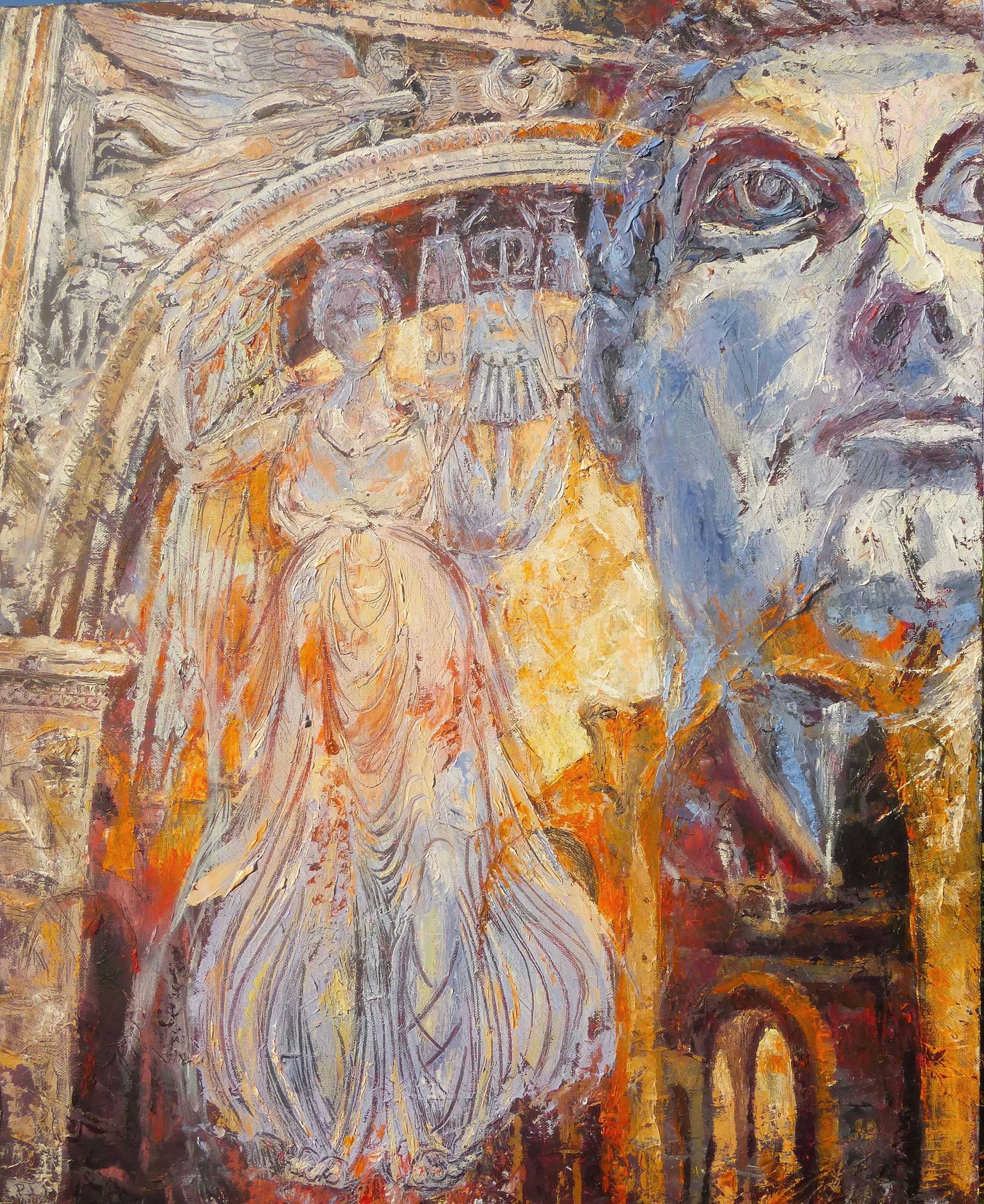 The Arch of Constantine, Forum, Rome. Oil on canvas