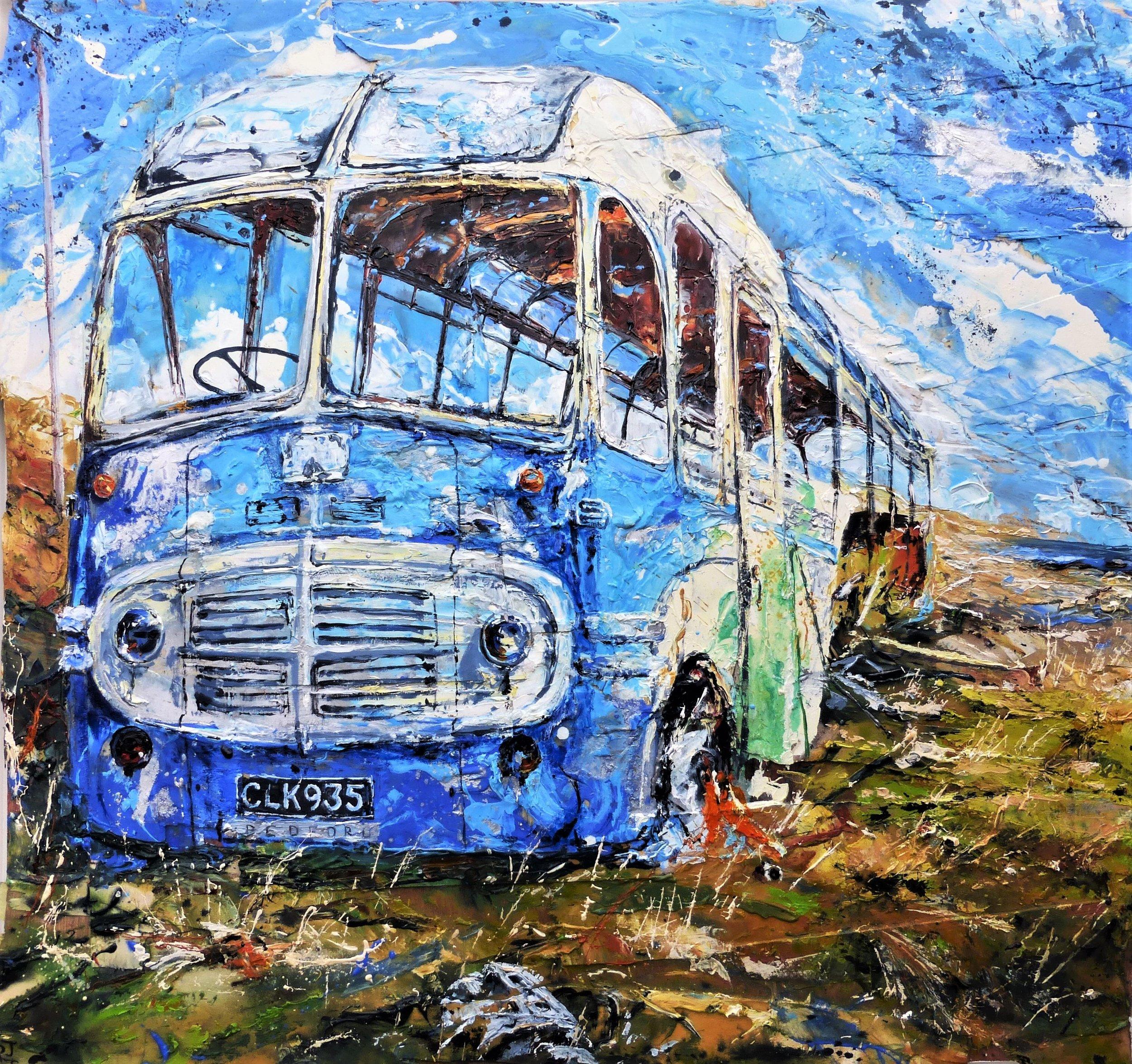 Abandoned Hoy Bus, Orkney Islands