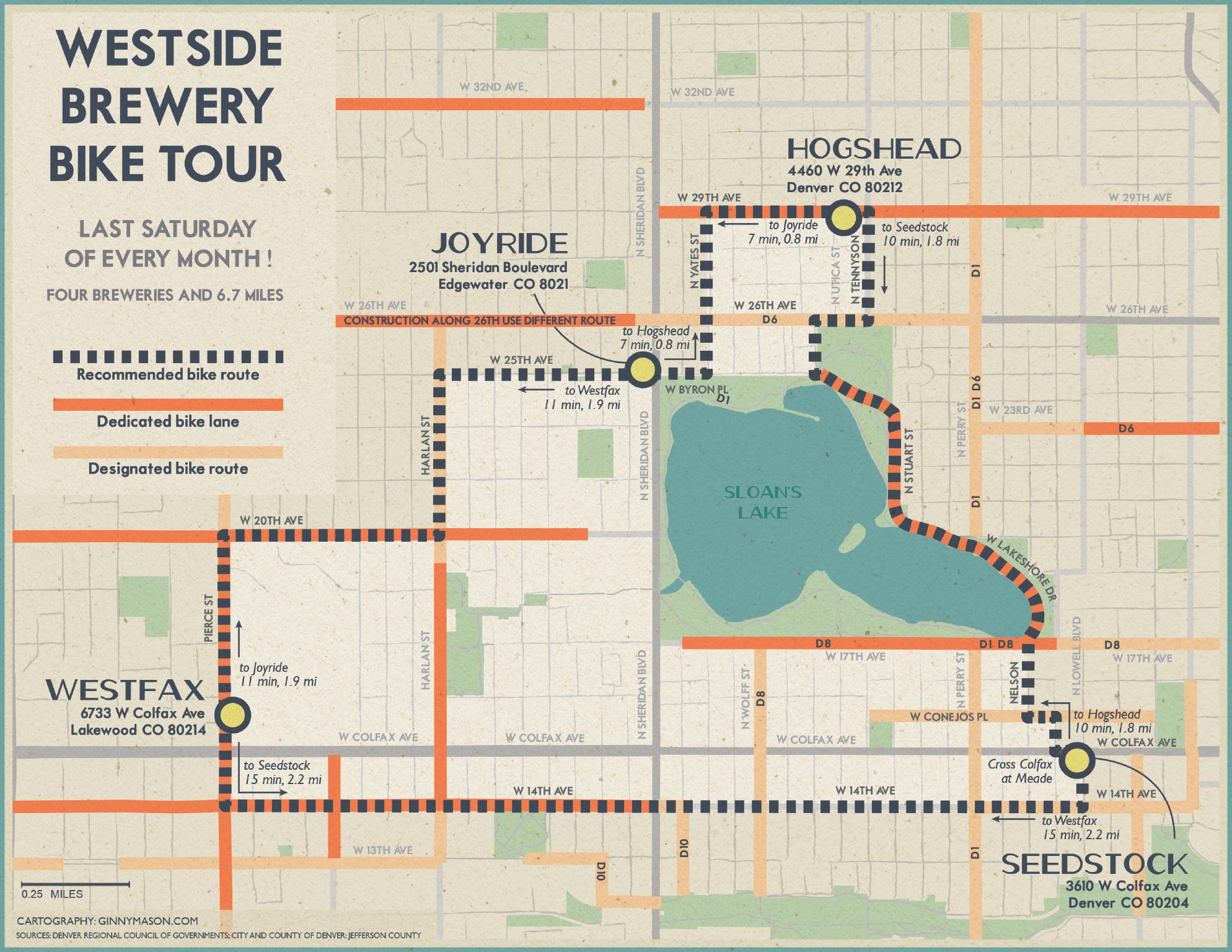 Westside Brewery Bike Tour