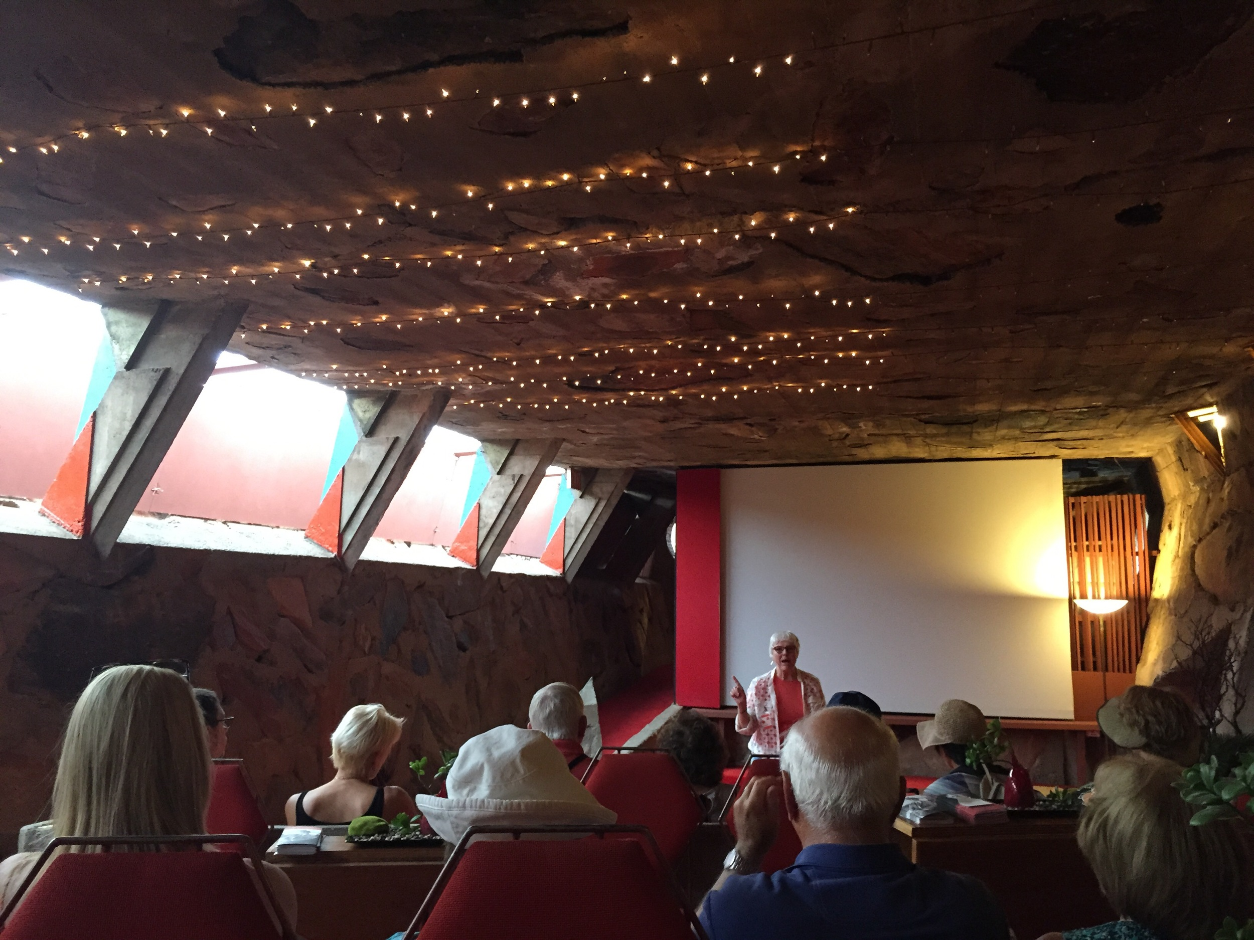 The movie theater Frank Lloyd Wright designed and built