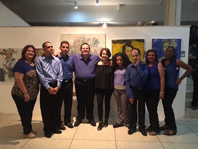 From left to right, Betty Piña, Fupanaz Treatment Director Coordinator, Nerio Rouvier, Fupanaz student and singer, Agustin Gonzalez, Fupanaz student and singer, Miguel Quintero, Fupanaz student and singer, Elida Marroquin, Latin Ladies Foundation of Houston,  member, Paula Victoria Avila, Fupanaz student and singer, Mauricio Matos, Fupanaz student and singer, Margelis Leat, Terapist, Eglis Cano, Fupanaz student and singer.