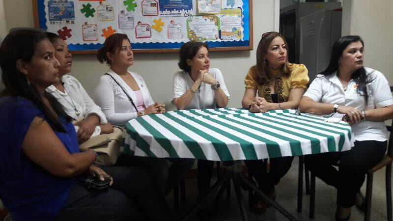 Fupanaz Administrative council members. From left to right: Ana Cristina Yorez, Yalenis Caffiero, Duiliana Rojas, Elida Marroquin (LLFH representative),  Jenny Morales Cabello and  Celaisi Ortega de Gonzalez.