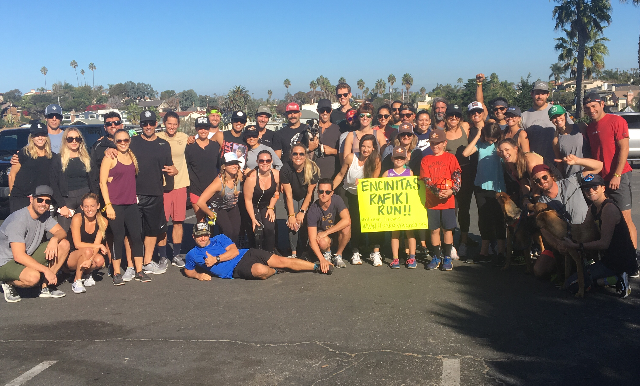 The first Encinitas Rafiki Run
