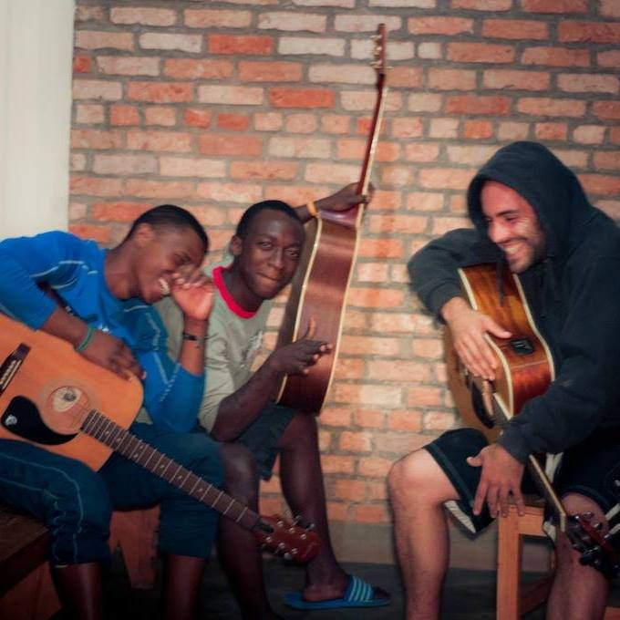 Fiston, Jack, and I jamming in Rwanda. I still don't have a Glorified Gardeners picture. This must change this year