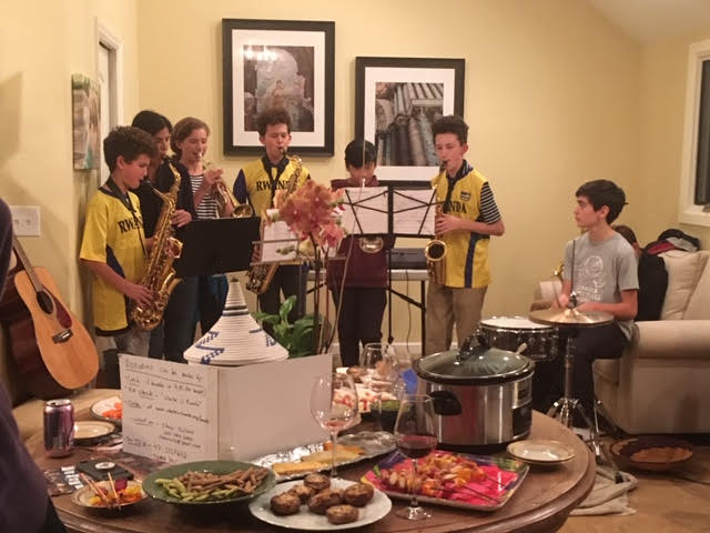 The Palmer Village Band performing for the party