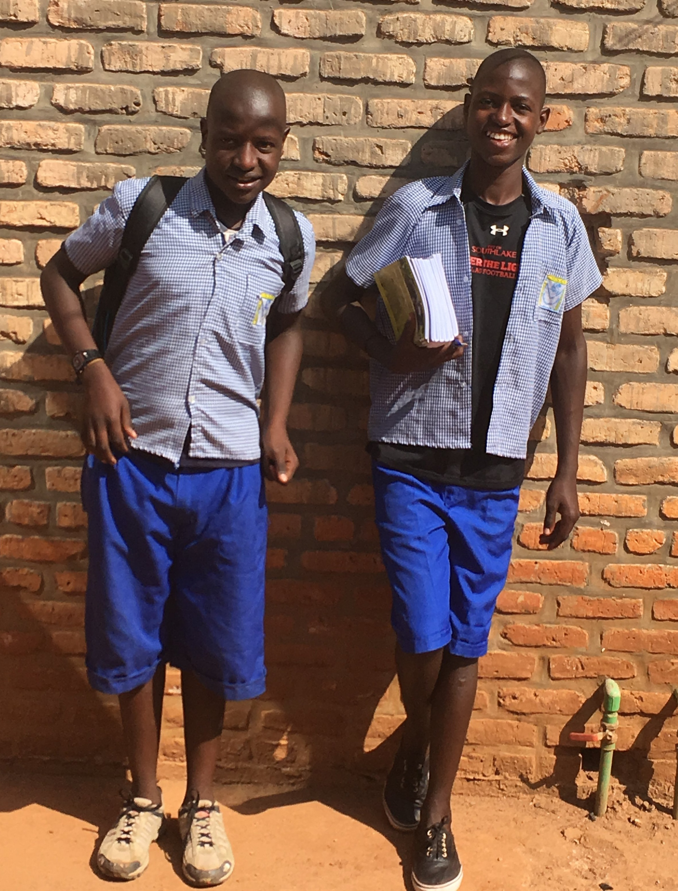 Amurand and Gabriel are brothers. They are our middle children as they are almost finished Primary School