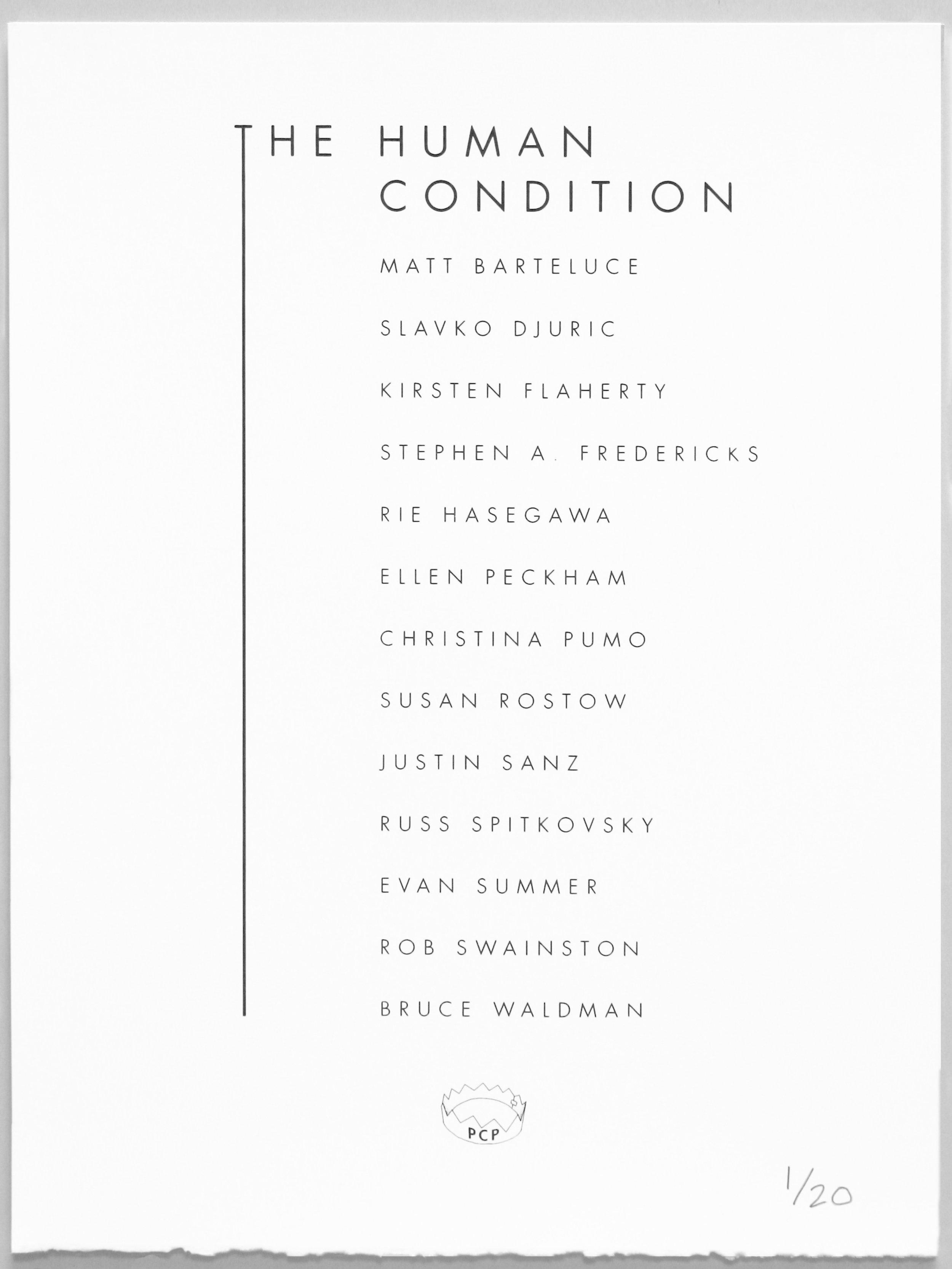 Colophon design:   Matt Barteluce  Screen print