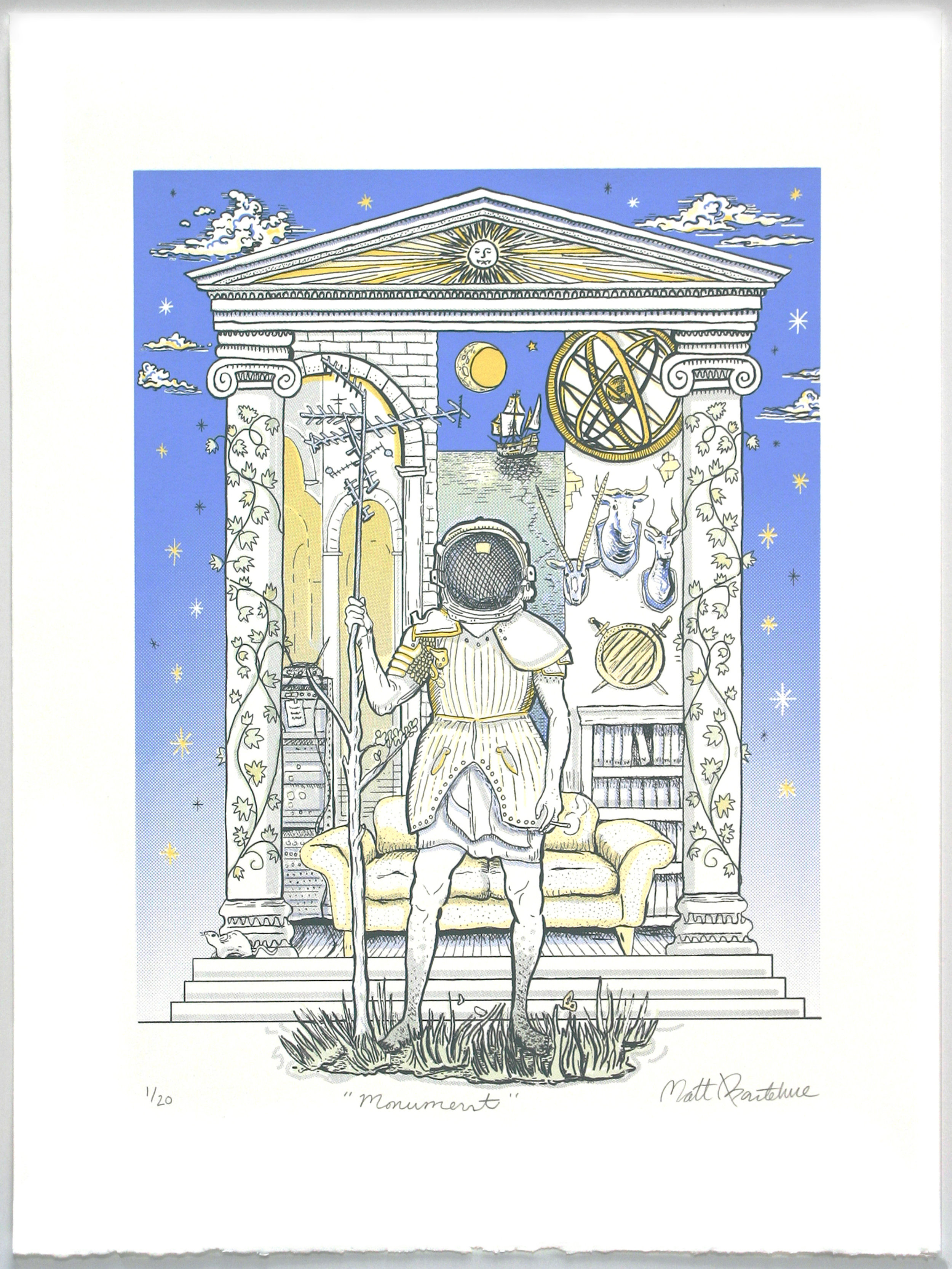 """"""" Monument """"  Matt Barteluce  5 color silkscreen"""