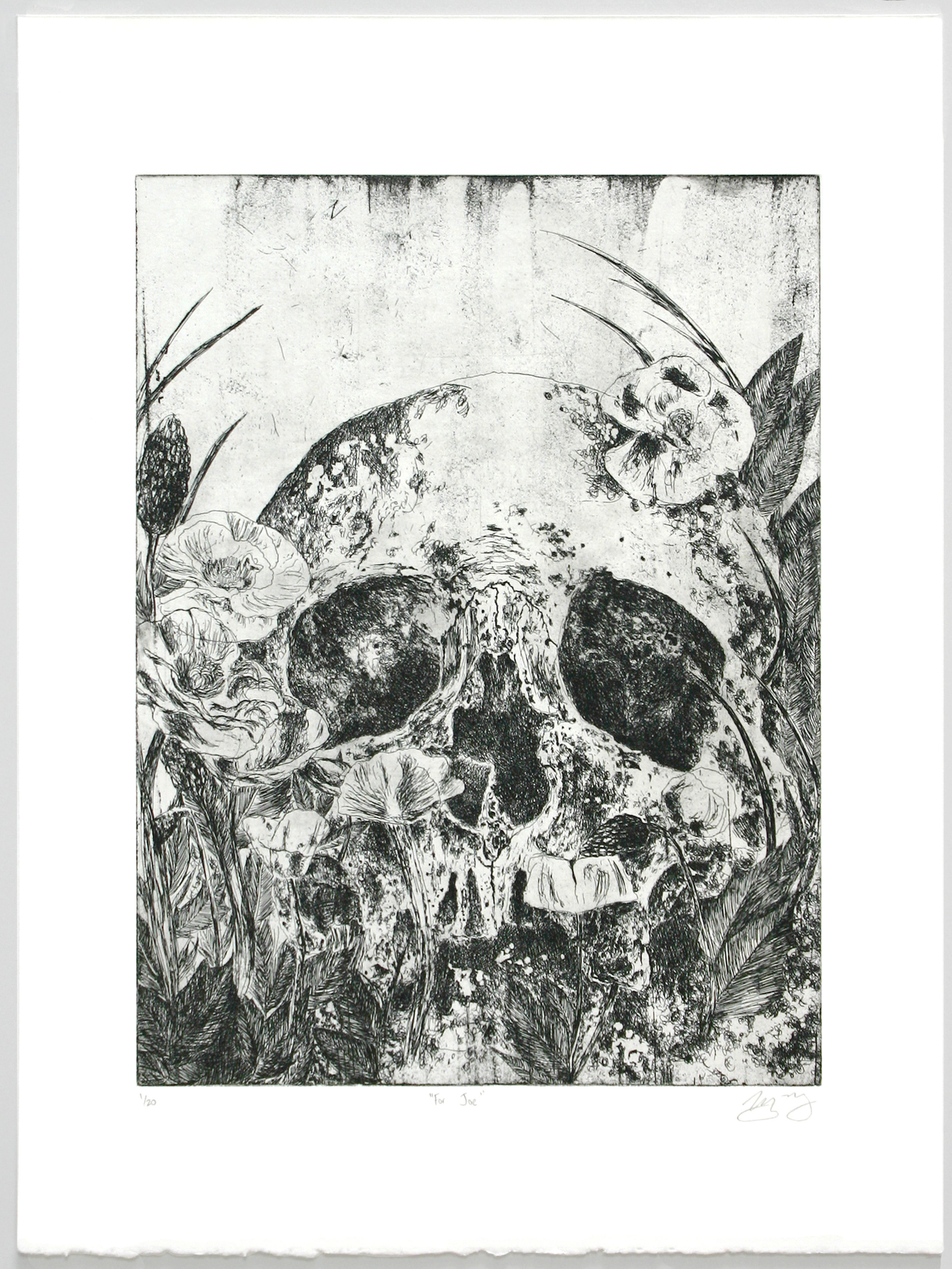 """""""For Joe""""   Kirsten Flaherty  Etching with aquatint"""