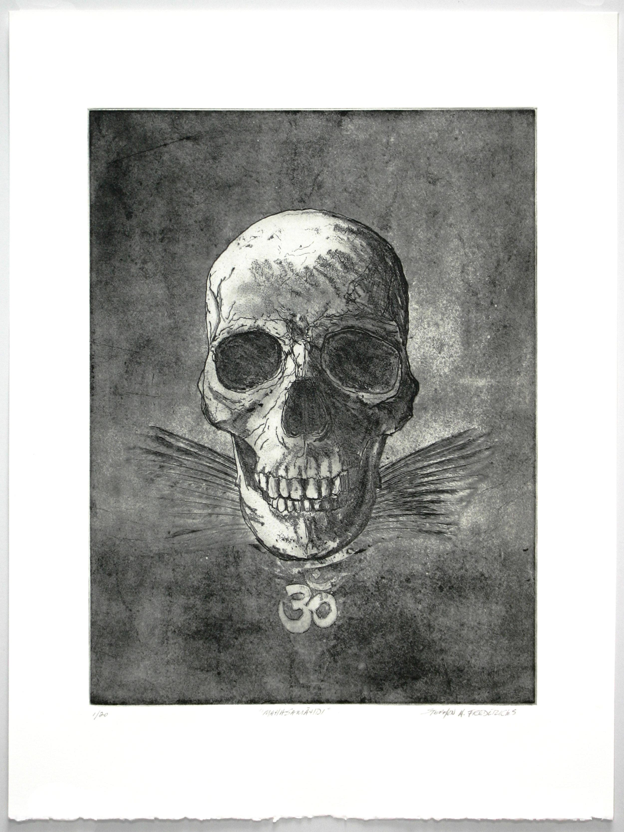 """Mahasamāhdi""   Stephen A. Fredericks  Softground etching"