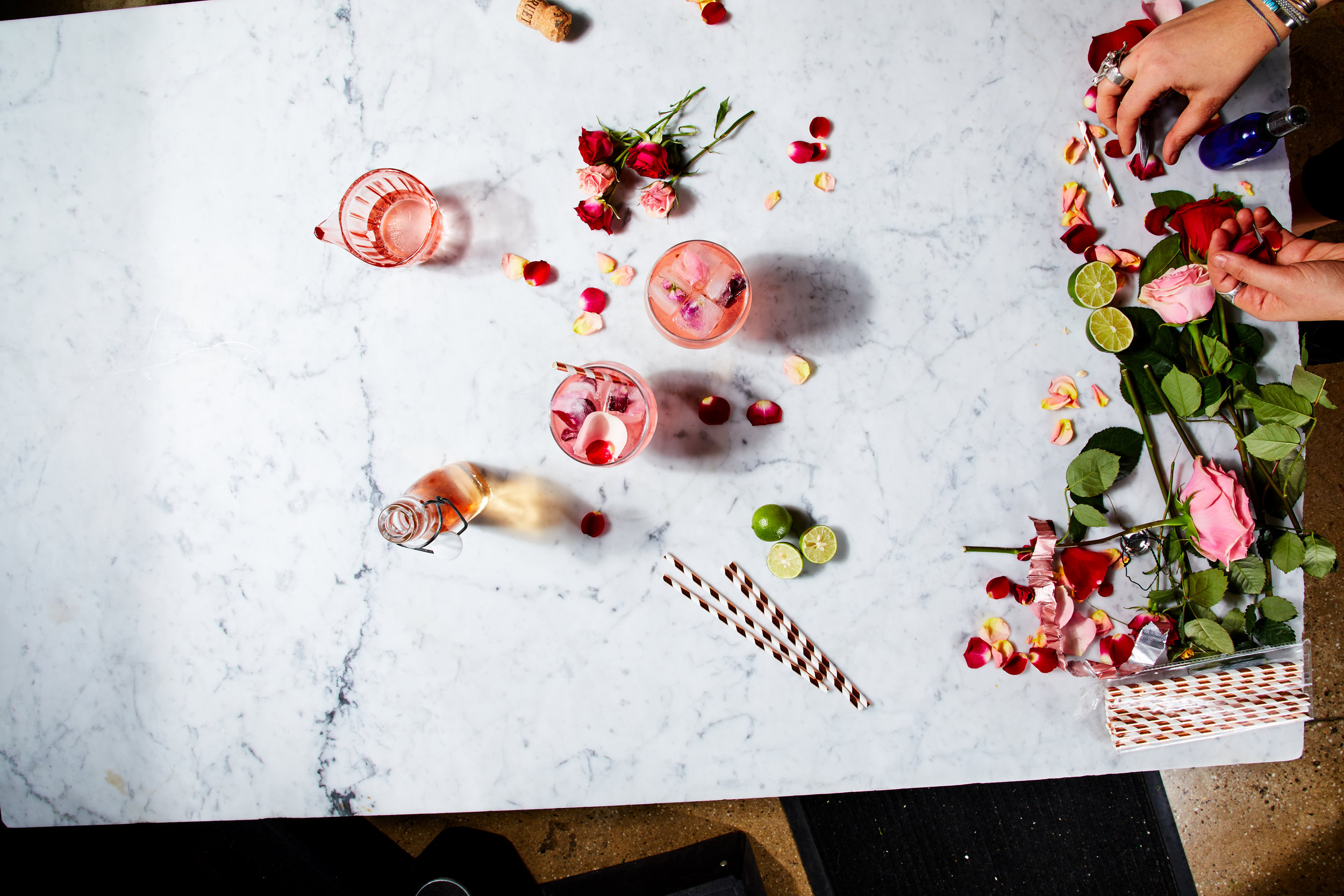 On-set food and prop styling for client HelloFresh. Image used with permission.