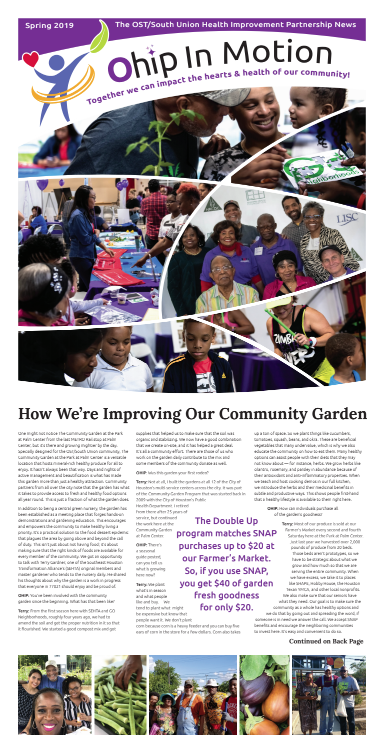 2019 SPRING OHIP IN MOTION NEWS