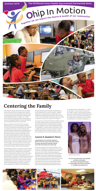 2019 SUMMER OHIP IN MOTION NEWS