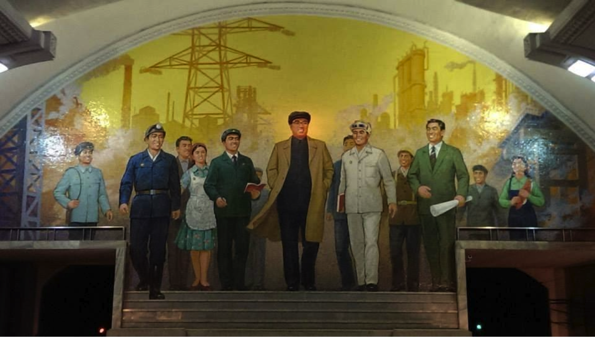 (Mural Inside an Underground Station, Pyongyang)