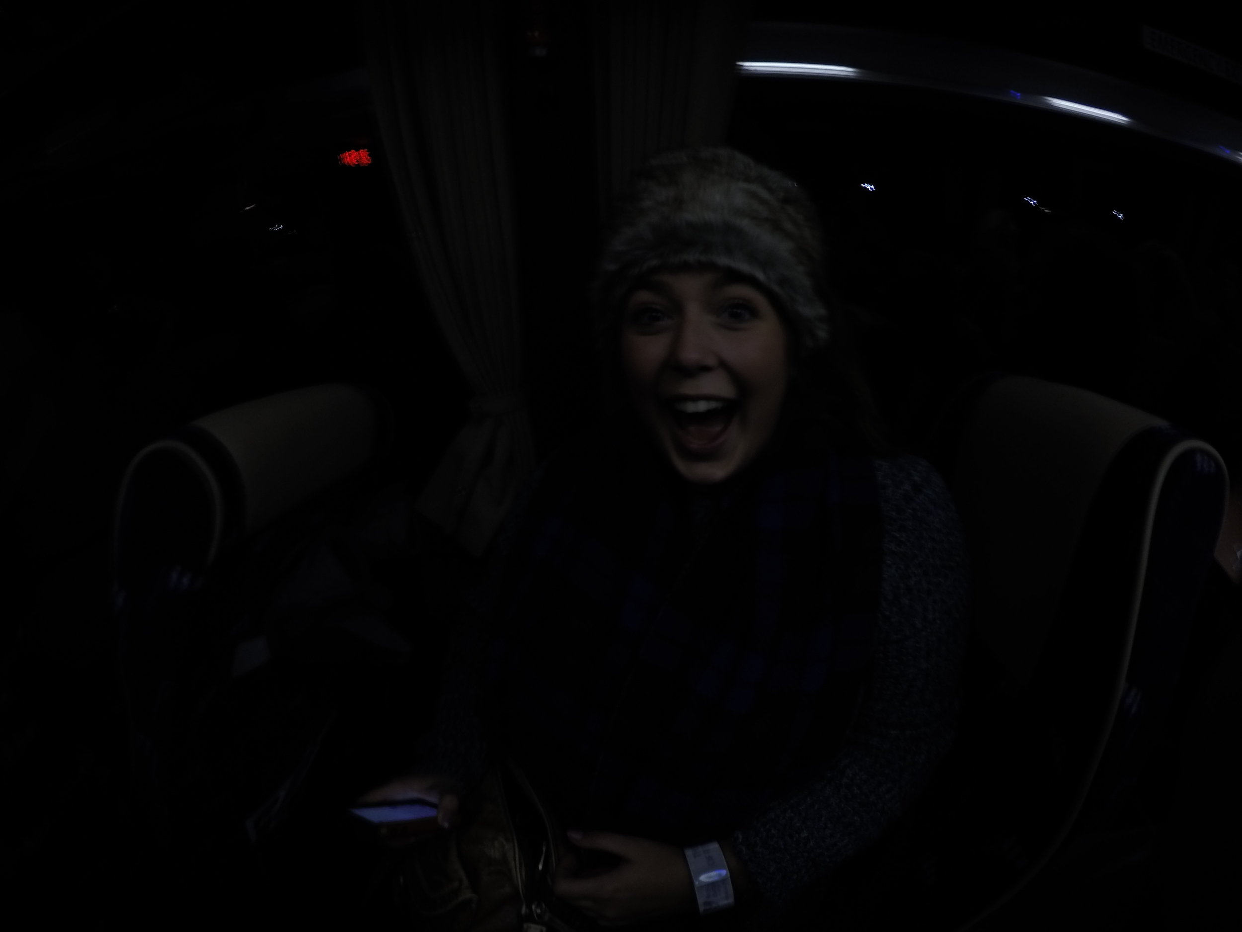 My super excited face after seeing the lights!