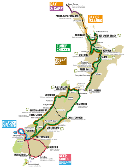 Image result for kiwi experience map