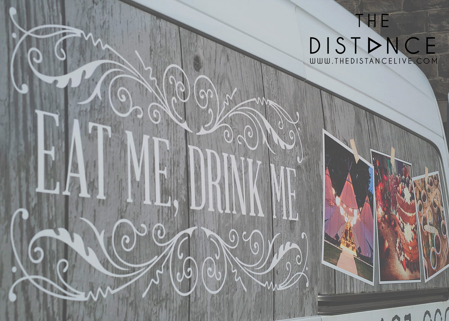 Eat me, drink me wedding band the distance