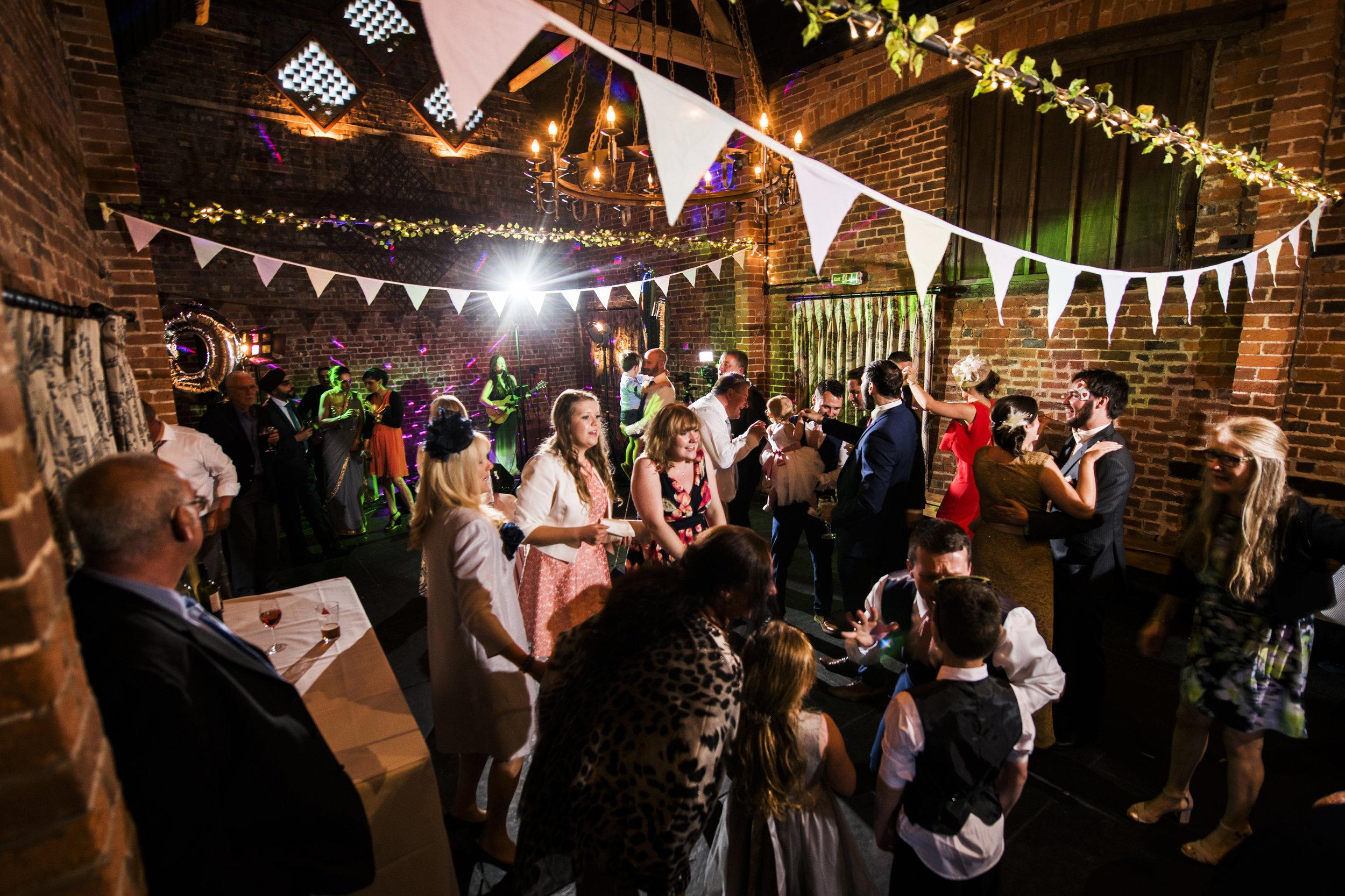 Curradine Barn wedding band | The Distancw