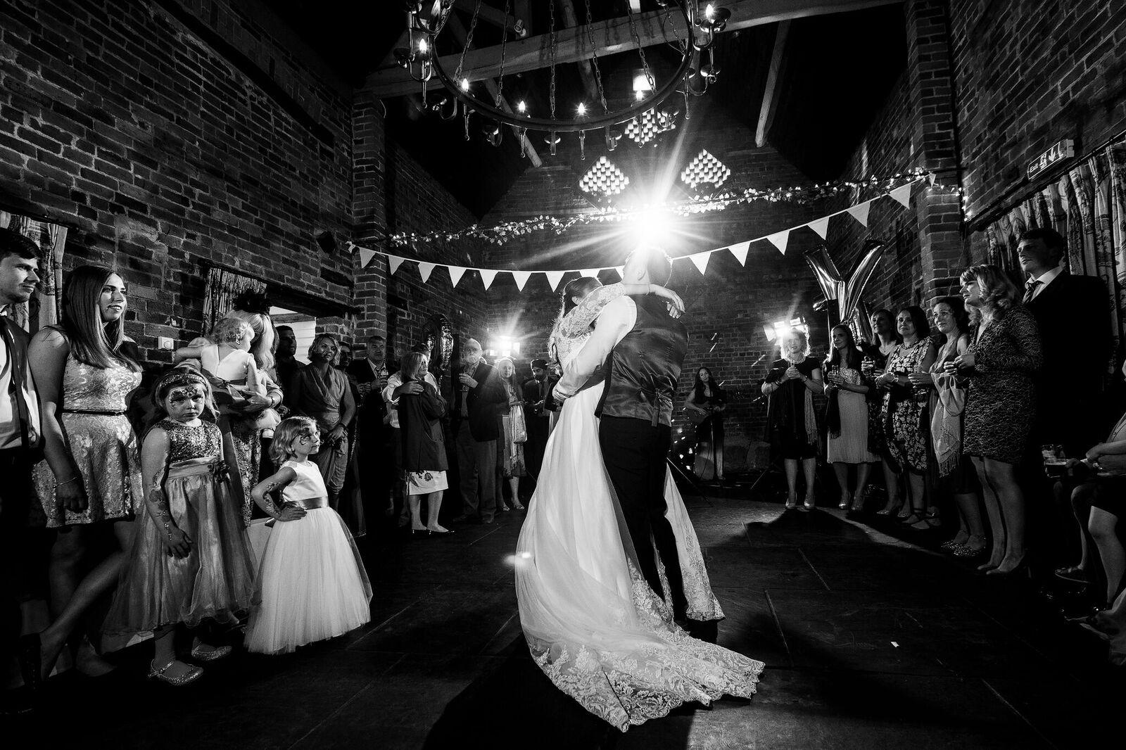 Curradine Barns wedding band | The Distance