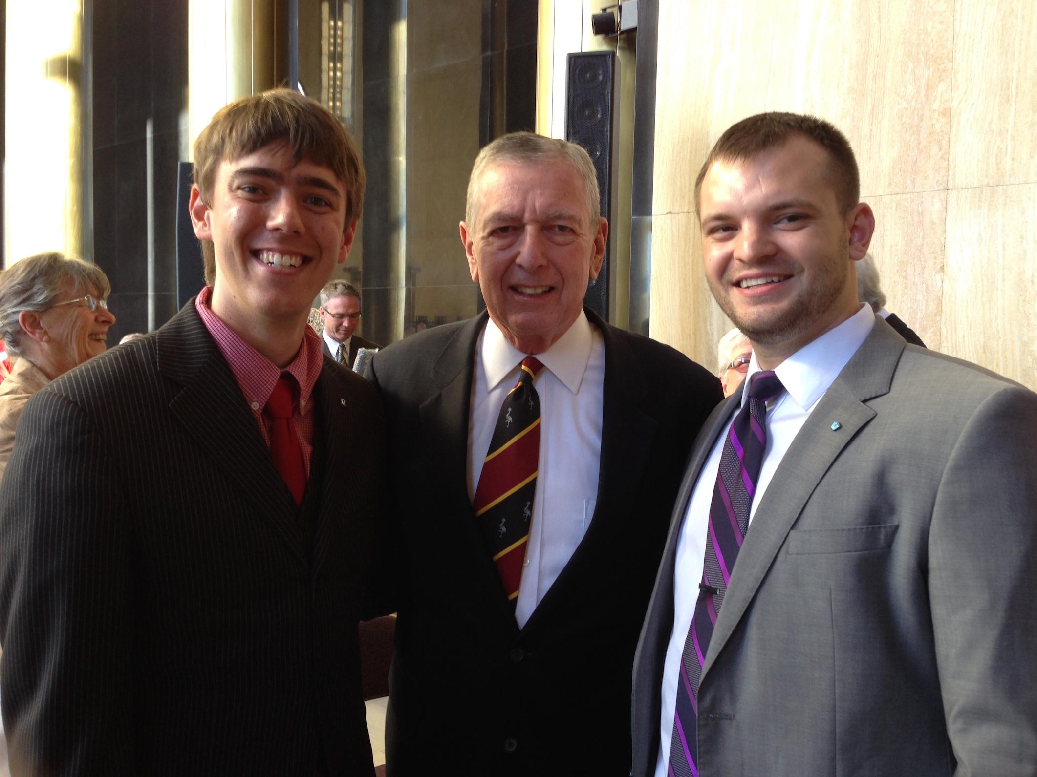 From Left to Right: NDRL Legislative Director Brock Schmeling, Former US Attorney General John Ashcroft, NDRL Executive Director Devyn Nelson.