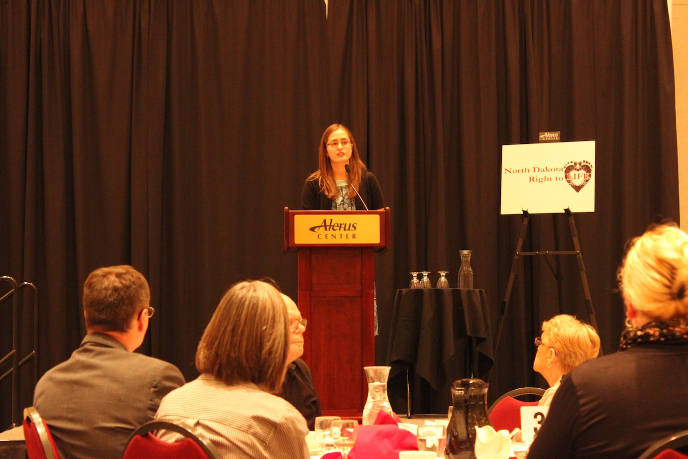Emily Dosch - March for Life report at the Grand Forks banquet.