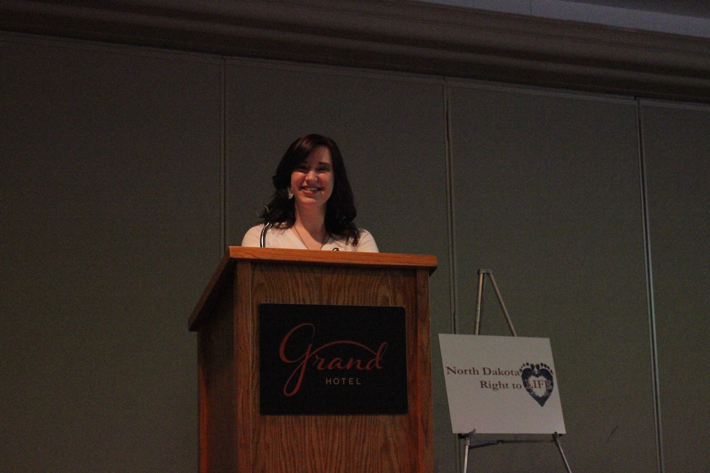 Susan Thom - Master of Ceremonies at the Minot banquet.