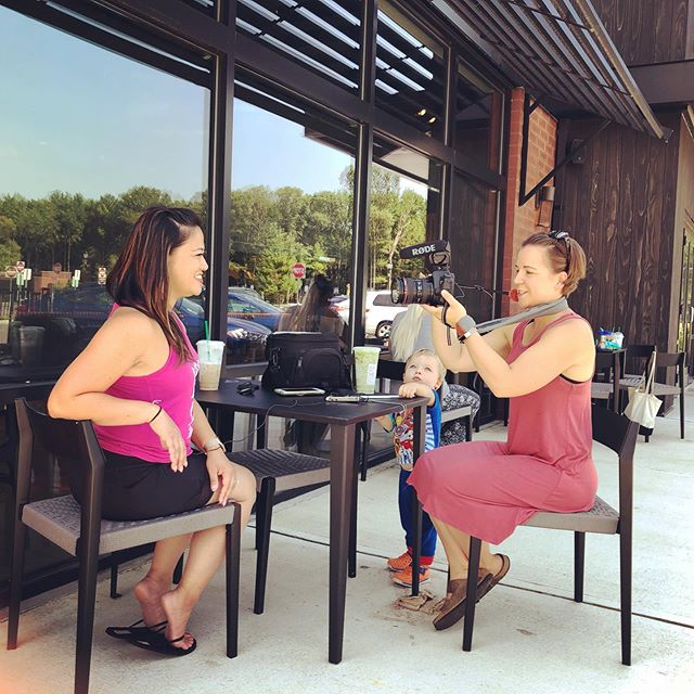I love getting to work with other small business owners especially when we can bring the kiddos for a special treat at Starbucks!  Keep your eyes out for a short video featuring Donna, owner of  @babybootcamprobbinsville!  Also any moms in the area should check out Baby Boot Camp! It is a great program that gets mom fit and the kids have fun! . . . . #njvideographer #smallbusinessowner #womenvideographers #workingmom #entrepreneur #njbusinessvideos