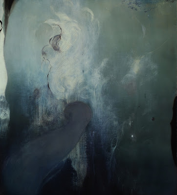 "Whaling Song, 2011: Oil on wood panel, 40"" x 36"""