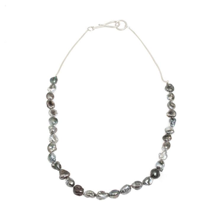 Large Silver Rare Keshi Pearls