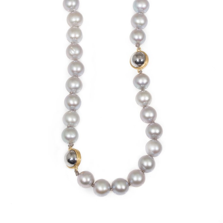 Pearl & Ball Bearing Necklace