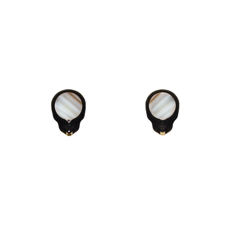 Black Tahitian Pearl Post Earrings