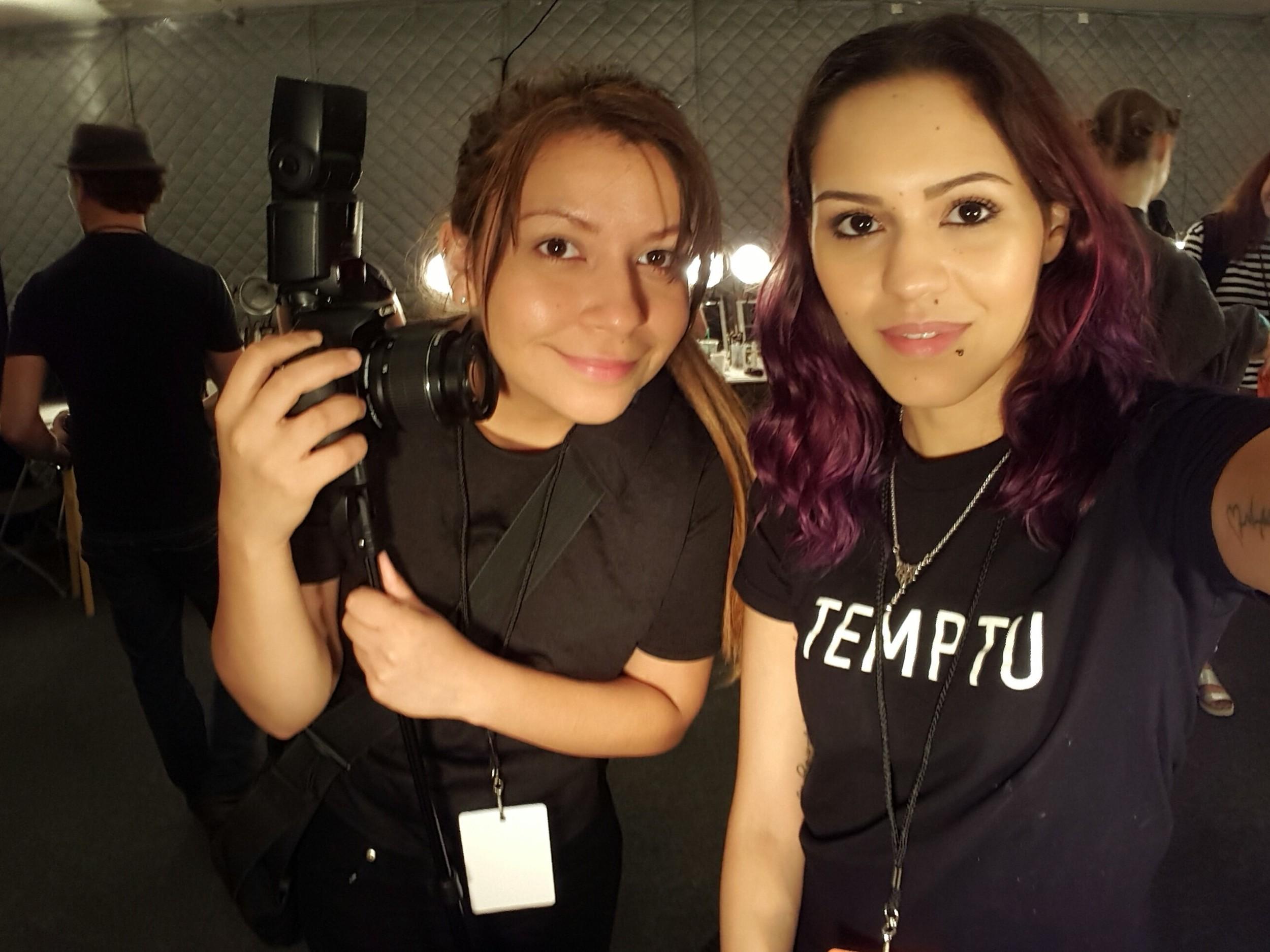 Amanda and I backstage at BCBG for NYFW